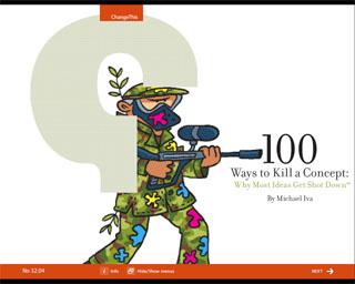 100 moodust, kuidas tappa ideed - miks enamus mõtteid maha notitakse