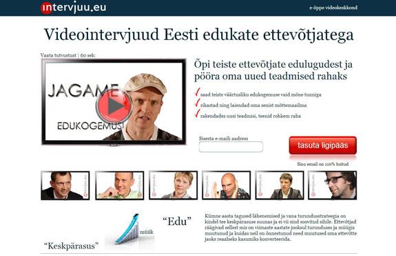 Videointervjuud Eesti edukate ettevõtjatega